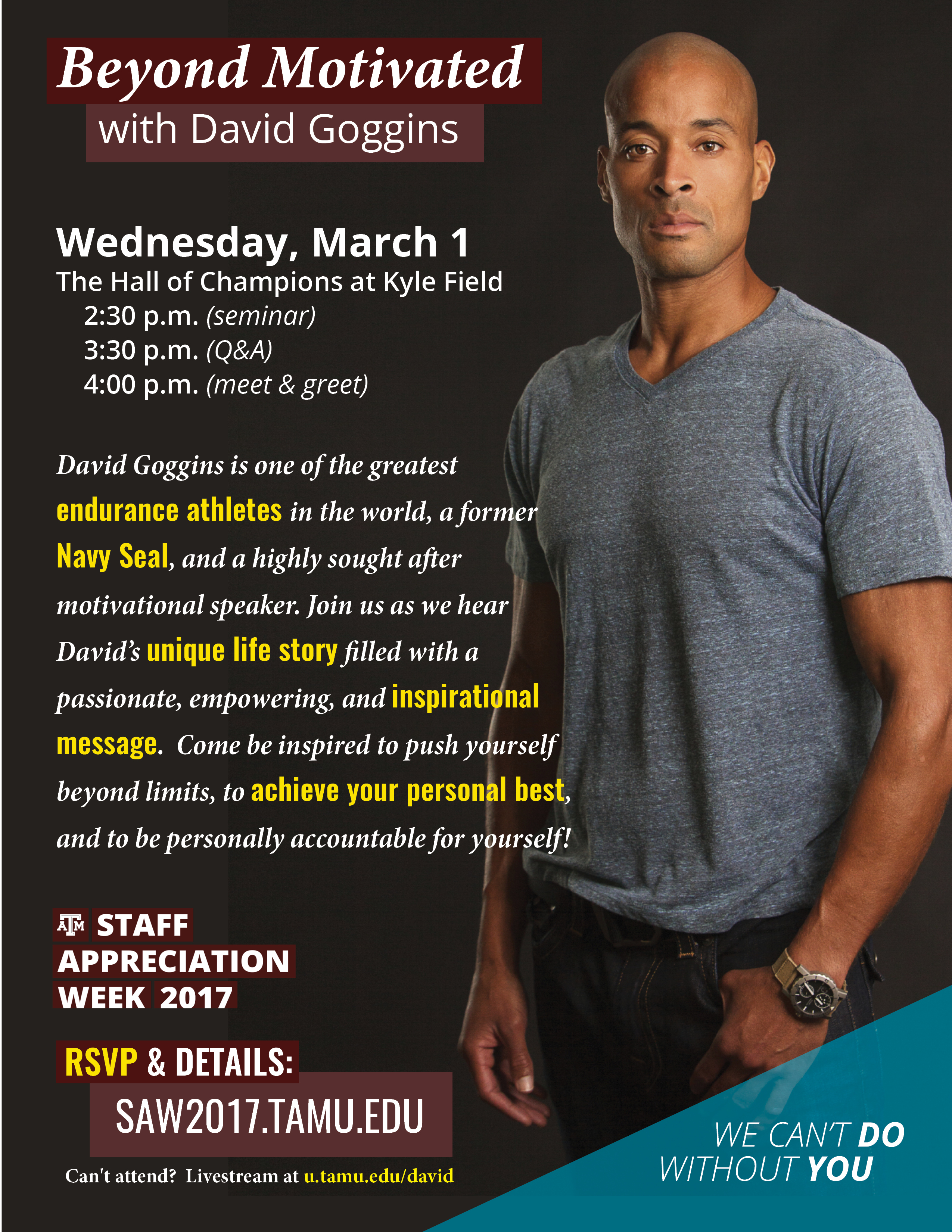 printable flyers staff appreciation week texas a m university david goggins flyer